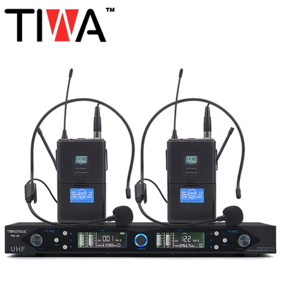 TIWA Best Selling Professional uhf wireless microphone with 2 headsets