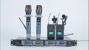 8 channels wireless microphone UHF enping mic factory sell