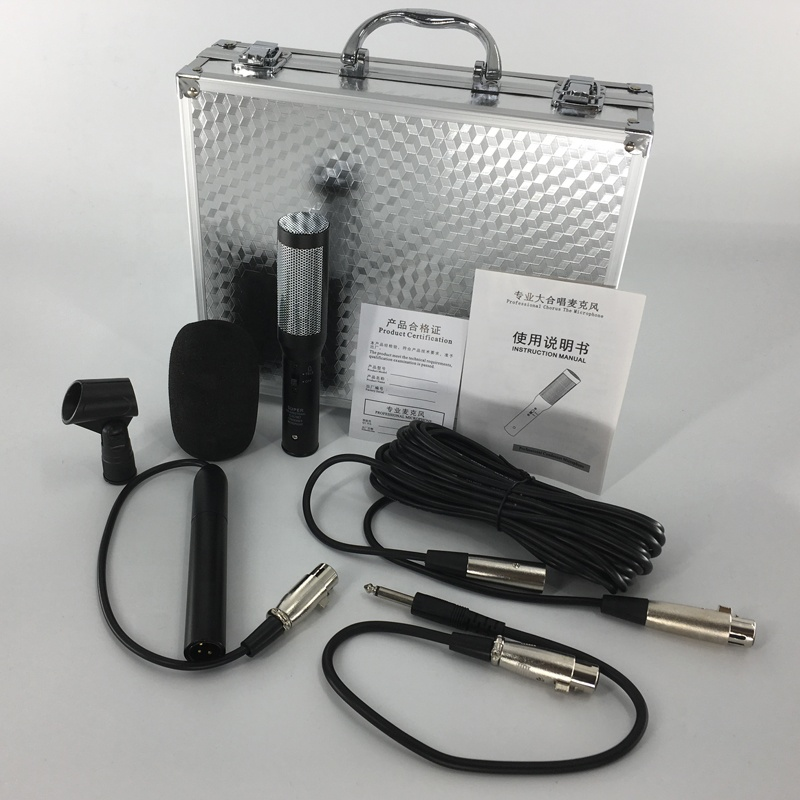 Professional stage chorus capacitor recording microphone Chorus Live performance Condenser Wired over long distance