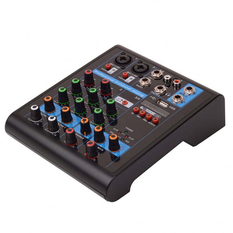 DJ stereo 4 channel USB mixer