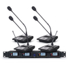 Tiwa 4 channels professional UHF wireless microphone with 4 handhelds/headsets/gooseneck mic