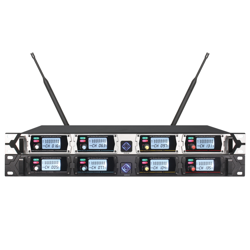2019 factory new trend four channels microphone wireless uhf