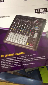 Professional Audio Mixer 8 Channels DSP Effect i08