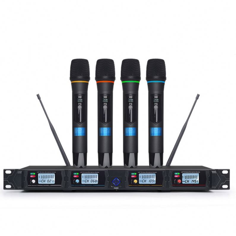 Tiwa Professional 4 Channel UHF Wireless Microphone handheld microphone headset microphone