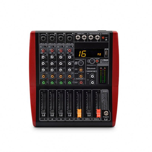 Tiwa DJ stereo 4 channel USB mixer mezcladora de audio